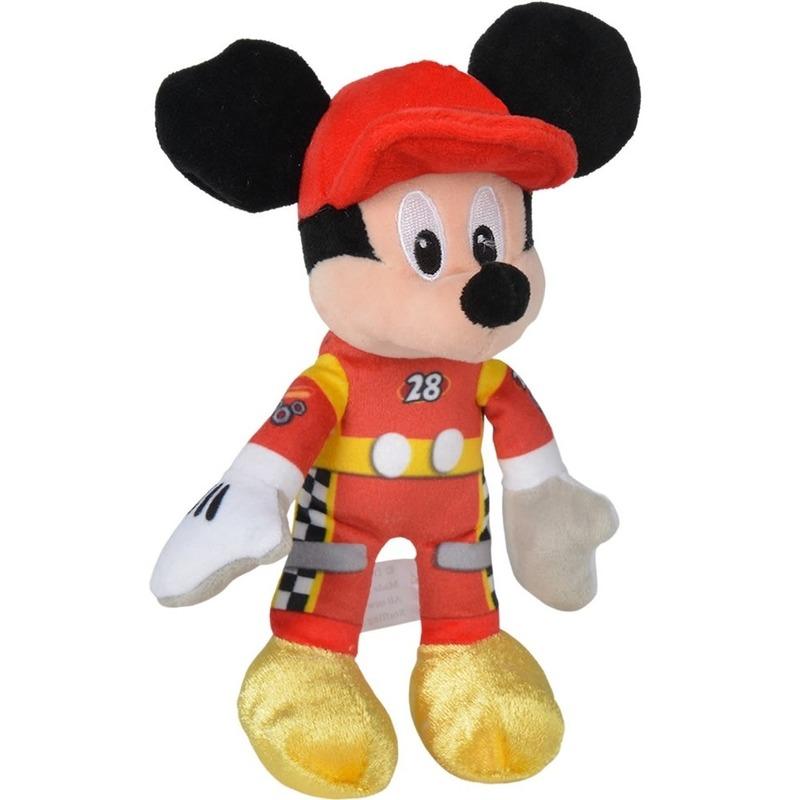 da13e7f360ca Disney pluche Mickey Mouse auto race knuffel 21 cm